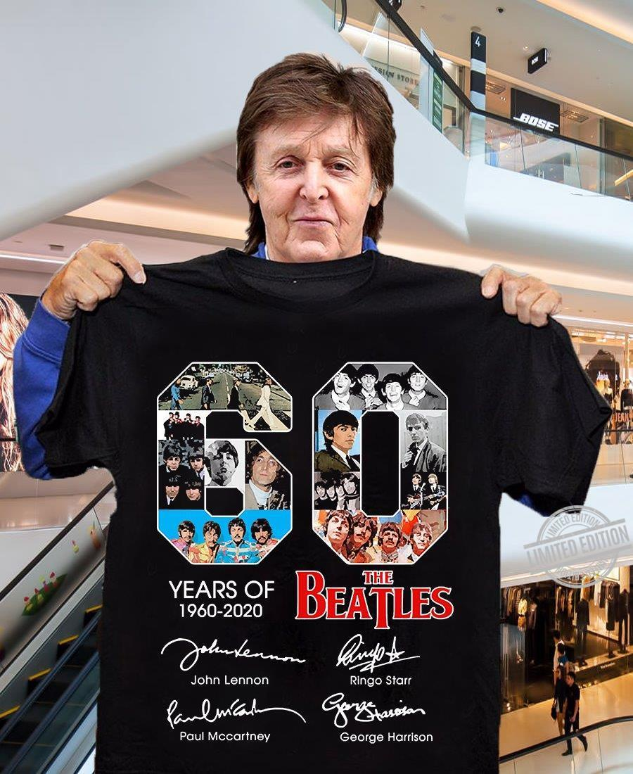 60 Years Of 1960-2020 The Beatles Signatures Shirt