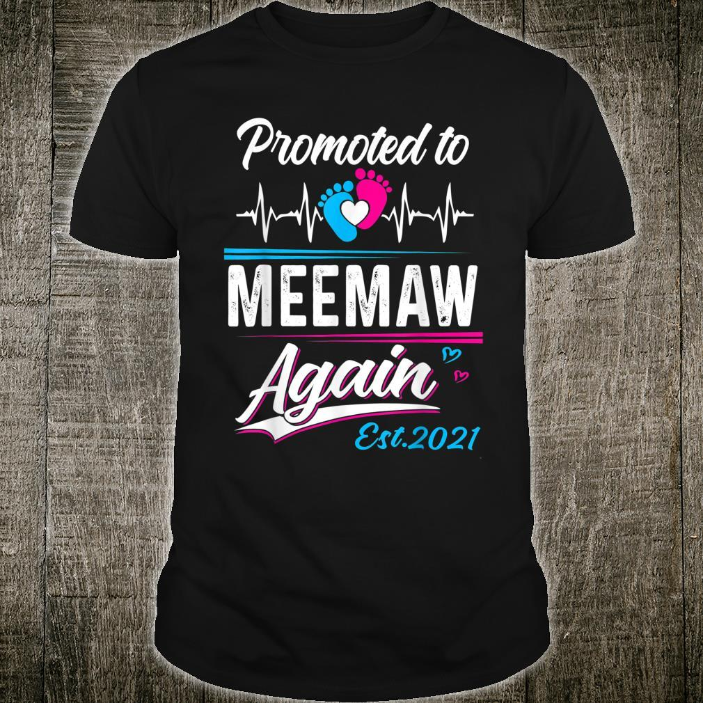 Meemaw Promoted To Meemaw Again EST 2021 Shirt
