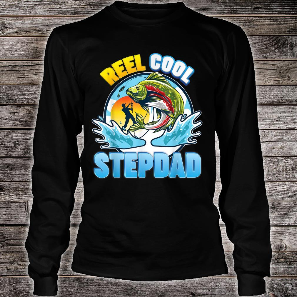 Reel Cool Stepdad Fishing Dad Father Day Papa Daddy Shirt long sleeved