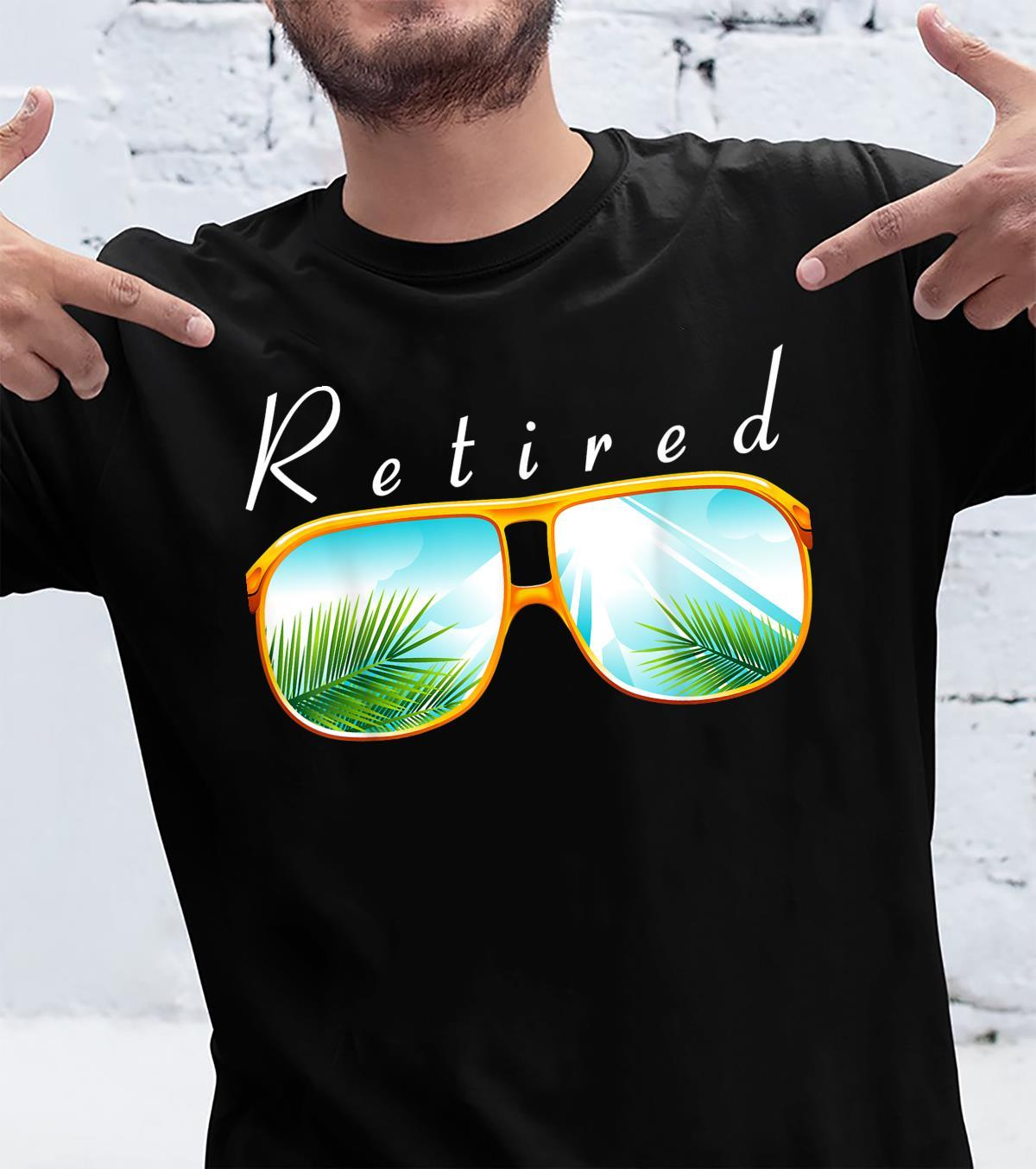Retirement Fathers Day Tropical Sunglasses Shirt