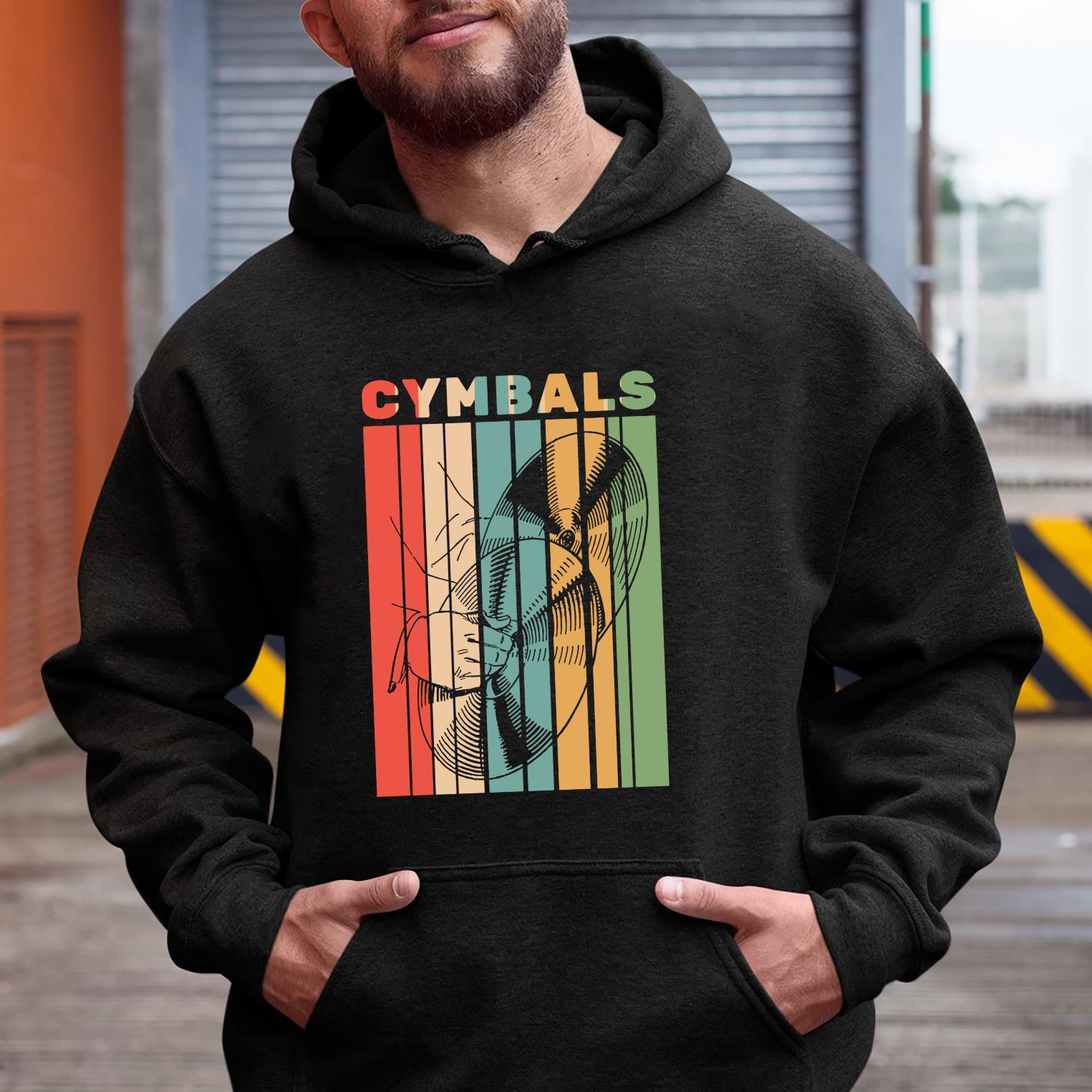 Retro Vintage Cymbals Player Drummer Marching Band Cymbalist Shirt hoodie