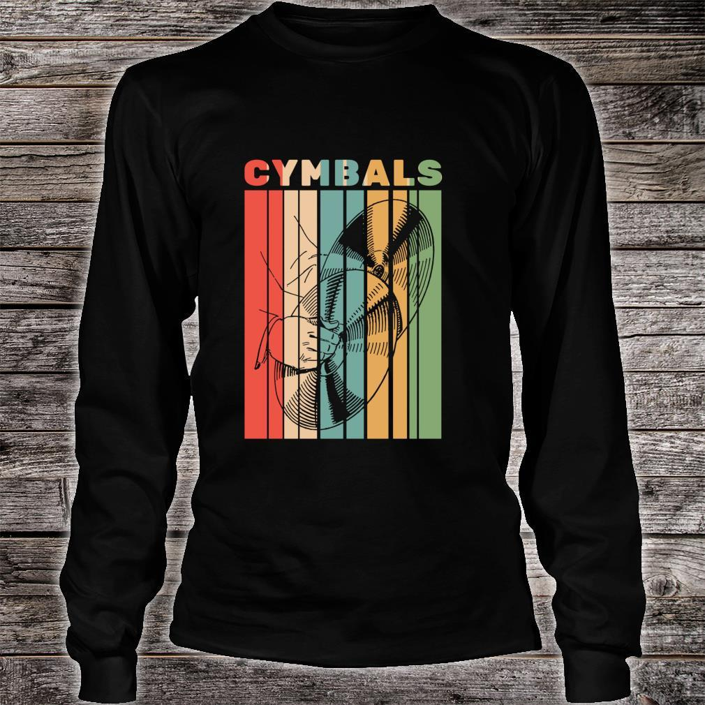 Retro Vintage Cymbals Player Drummer Marching Band Cymbalist Shirt long sleeved