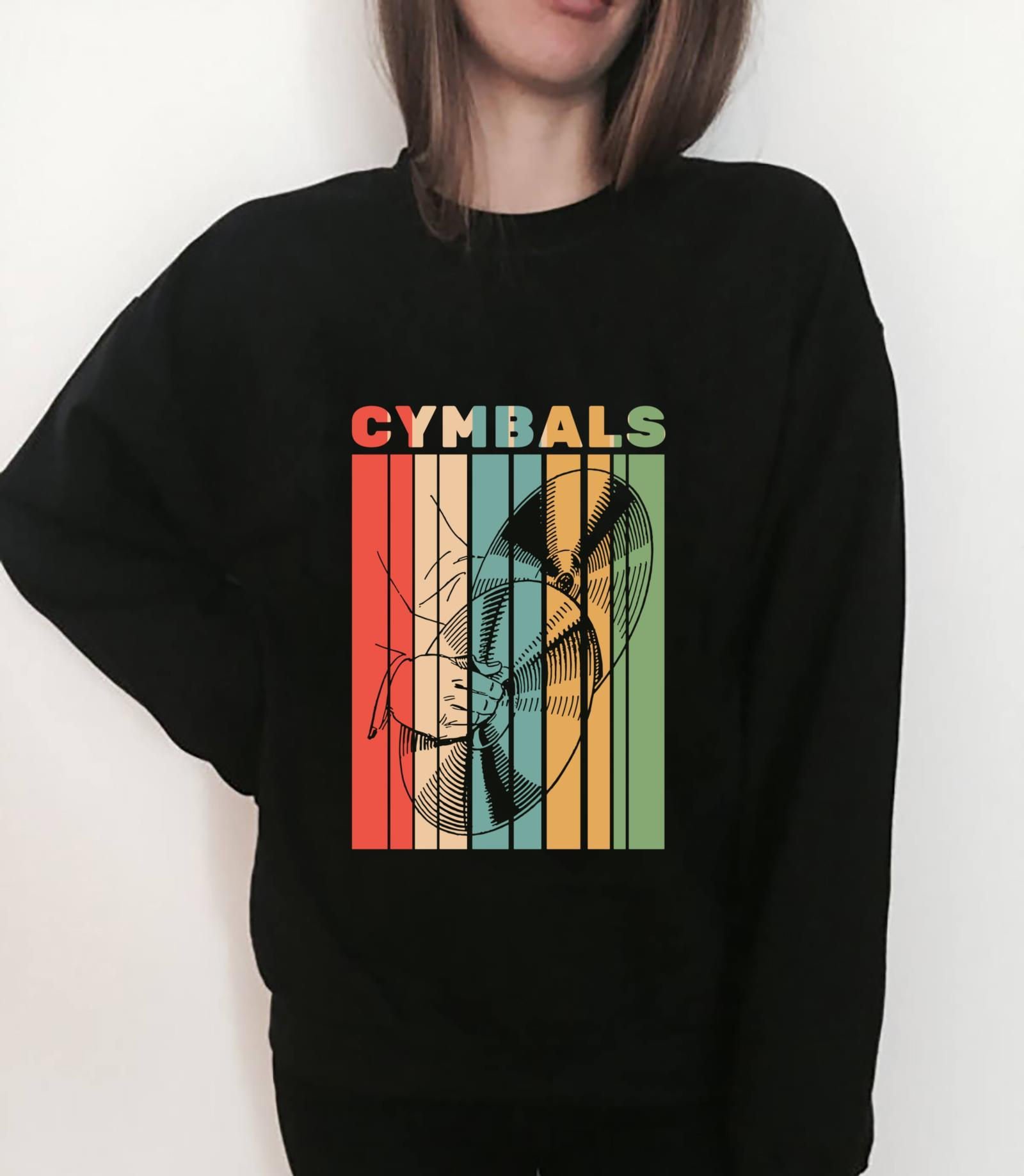 Retro Vintage Cymbals Player Drummer Marching Band Cymbalist Shirt sweater