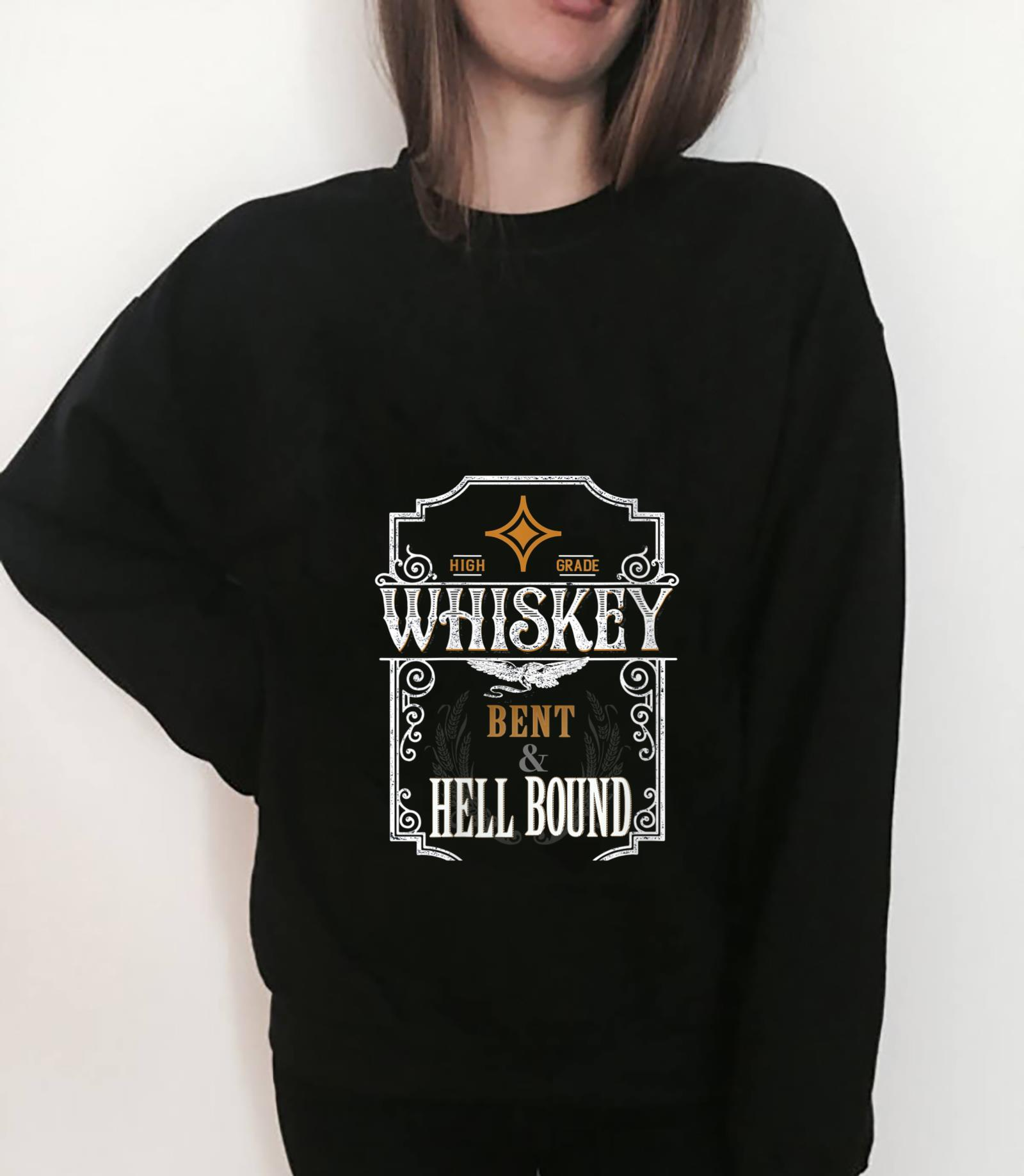 Womens Whiskey Bent And Hell Bound Vintage Retro Country Music Shirt sweater