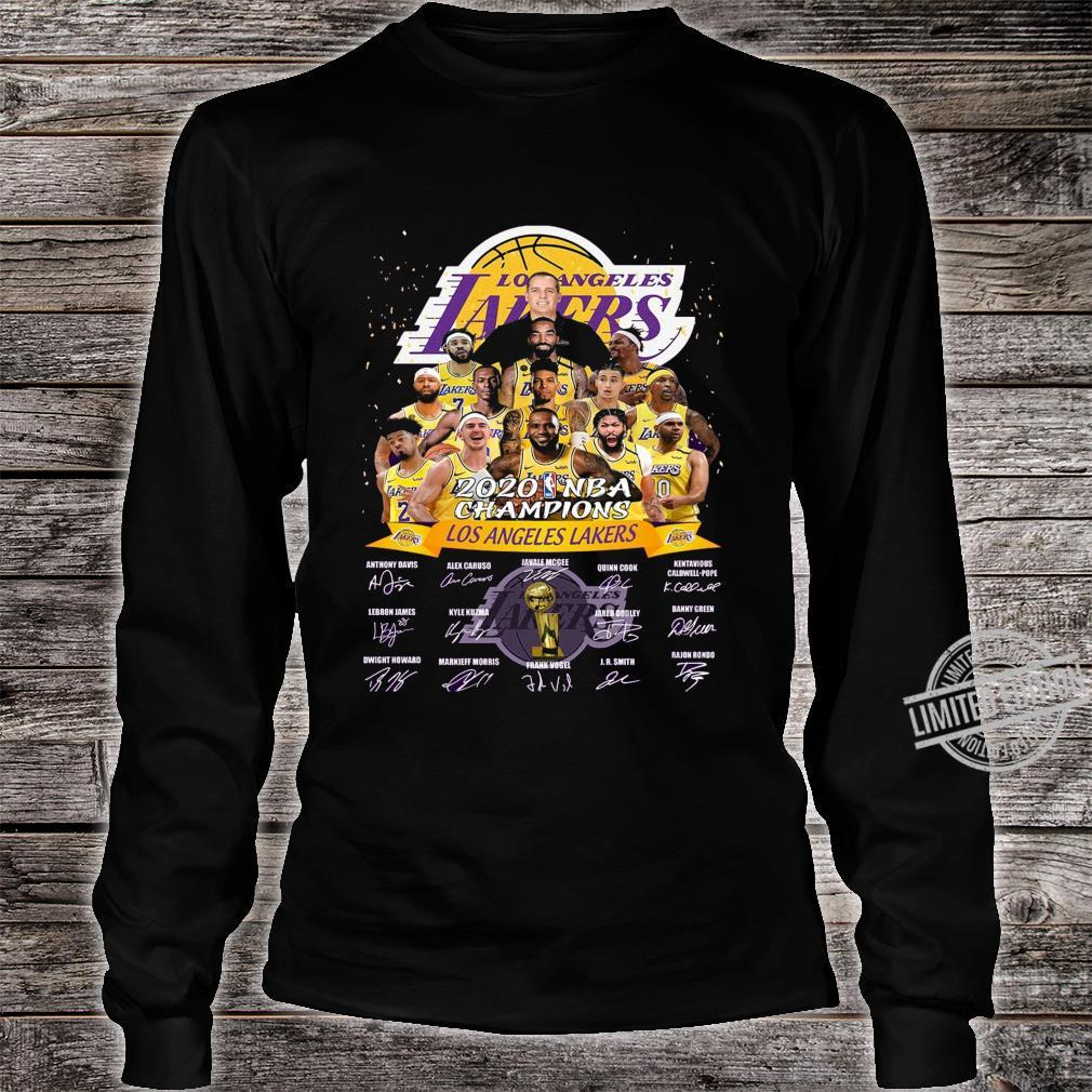 Los Angeles Lakers Is The Champions 2020 NBA Shirt long sleeved