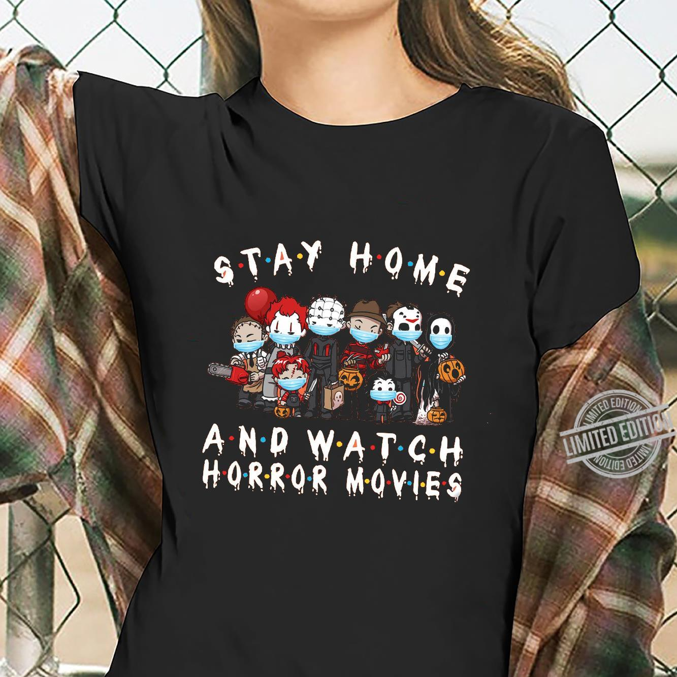 Stay Home And Watch Horror Movies Shirt ladies tee